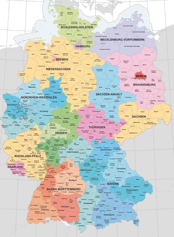 alte bundesländer karte Start   Wikipedia für die 16 Bundesländer Deutschlands