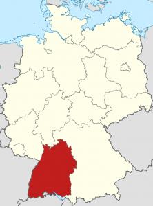 Die Lage von Baden-Württemberg auf der Deutschlandkarte