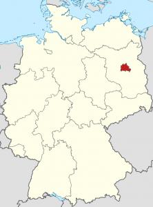 Die Lage von Berlin auf der Deutschlandkarte