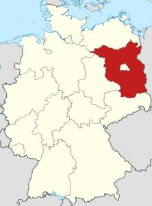 Die Lage von Brandenburg auf der Deutschlandkarte