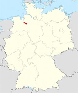 Die Lage von Bremen auf der Deutschlandkarte