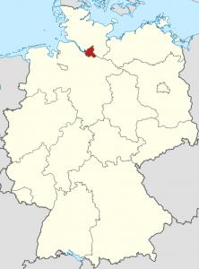 Die Lage von Hamburg auf der Deutschlandkarte