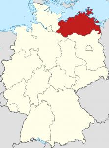 Die Lage von Mecklenburg-Vorpommern auf der Deutschlandkarte