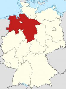 Die Lage von Niedersachsen auf der Deutschlandkarte