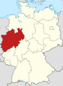 Die Lage von Nordrhein-Westfalen auf der Deutschlandkarte