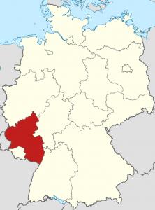 Die Lage von Rheinland-Pfalz auf der Deutschlandkarte