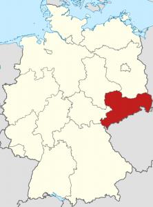 Die Lage von Sachsen auf der Deutschlandkarte