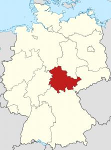 Die Lage von Thüringen auf der Deutschlandkarte